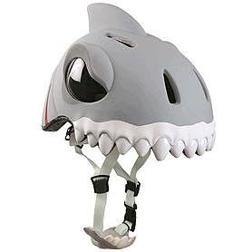 Фото 2 к товару Шлем анимированный Crazy Safety 3D Белая Акула с фонариком