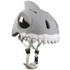 Шлем анимированный Crazy Safety 3D Белая Акула с фонариком - фото 2
