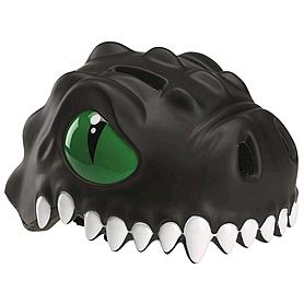 Шлем анимированный Crazy Safety 3D Черный Дракон с фонариком