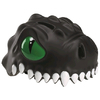 Шлем анимированный Crazy Safety 3D Черный Дракон с фонариком - фото 1