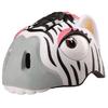 Шлем анимированный Crazy Safety 3D Зебра с фонариком - фото 1