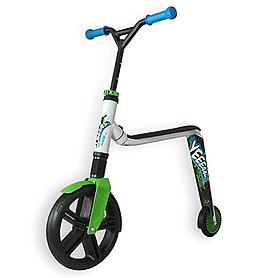 Фото 1 к товару Самокат-трансформер Scoot&Ride Highway Gangster бело-зелено-голубой