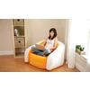 Кресло надувное Intex 68571NP (97х76х69 см) оранжевое - фото 2