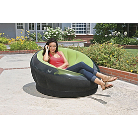Фото 2 к товару Кресло надувное Intex 68582 (112х109х69 см) зеленое