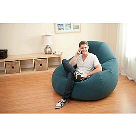 Фото 3 к товару Кресло надувное Intex 68583 (122х127х81 см) темно-зеленое