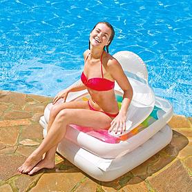 Фото 3 к товару Матрас-кресло надувное пляжное Intex 58847 (198х94 см)