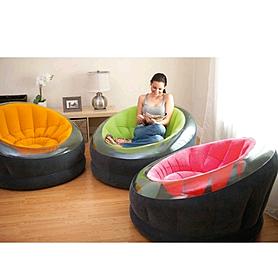 Фото 3 к товару Кресло надувное Intex 68582 (112х109х69 см) розовое