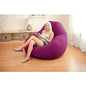 Фото 3 к товару Кресло надувное Intex 68583 (122х127х81 см) бордовое