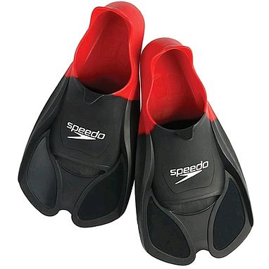 Ласты с закрытой пяткой Speedo 8035903991 черно-красные, размер - 41-42