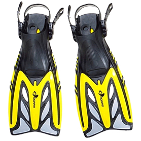 Ласты с открытой пяткой Dorfin ZP-441 желтые, размер - L-XL(42-45)