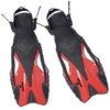 Ласты с открытой пяткой Dorfin ZP-445 красные, размер - S-M(38-41) - фото 1