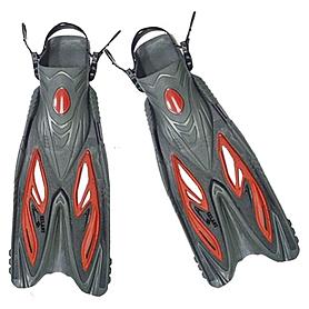 Ласты с открытой пяткой Dorfin ZP-453 красные, размер - L-XL(42-45)
