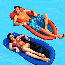 Фото 2 к товару Матрас надувной пляжный Intex 58836 (178х94 см) синий
