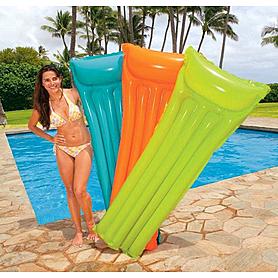 Фото 2 к товару Матрас надувной пляжный Intex 59703 (183x69 см) оранжевый