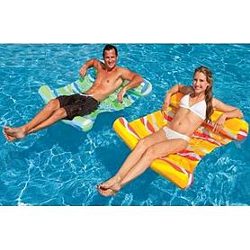 Фото 2 к товару Матрас надувной пляжный Intex 58834 (137х99 см) оранжевый