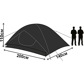 Фото 3 к товару Палатка двухместная Mountain Outdoor Trek 2