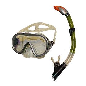 Набор для плавания Dorfin (ZLT) (маска+трубка) зеленый ZP-26542-PVC-GR