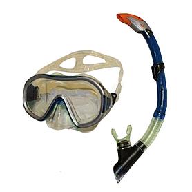 Фото 1 к товару Набор для плавания Dorfin (ZLT) (маска+трубка) синий ZP-26542-PVC-BL