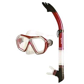 Набор для плавания Dorfin (ZLT) (маска+трубка) красный ZP-27745-SIL-R