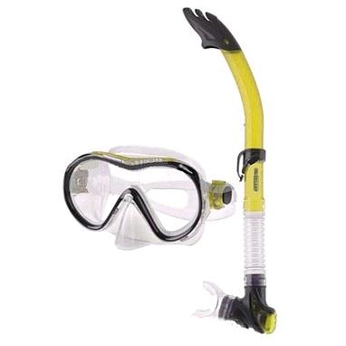 Набор для плавания детский Dorfin (ZLT) (маска+трубка) желтый