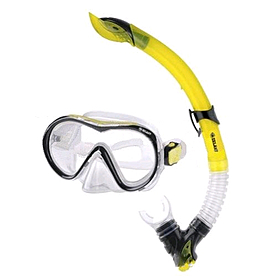 Набор для плавания Dorfin (ZLT) (маска+трубка) желтый