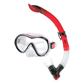Набор для плавания Dorfin (ZLT) (маска+трубка) красный ZP-280A65-SIL-R