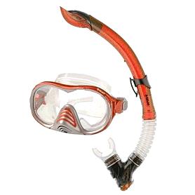 Набор для плавания Dorfin (ZLT) (маска+трубка) красный