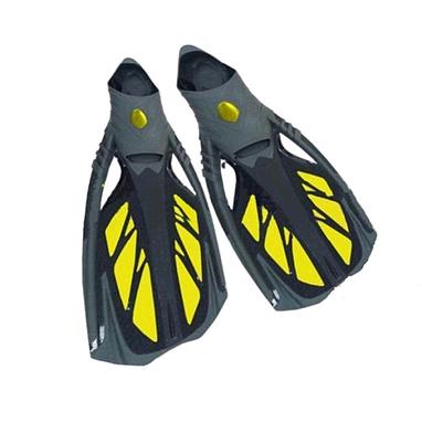 Ласты с закрытой пяткой Dorfin (ZLT) желтые, размер - 44-45 PL-444-Y-44-45