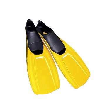 Ласты с закрытой пяткой Dorfin (ZLT) желтые, размер - 38-39