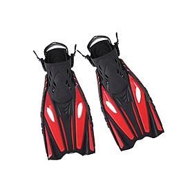 Ласты с открытой пяткой Dorfin (ZLT) красные, размер - 42-45