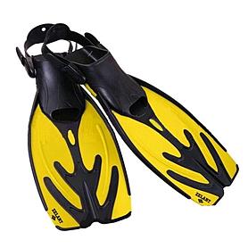 Фото 1 к товару Ласты с открытой пяткой Dorfin (ZLT) желтые, размер - 42-45 ZP-435-Y-42-45