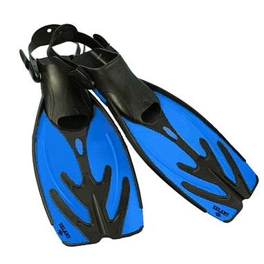 Ласты с открытой пяткой Dorfin (ZLT) синие, размер - 38-43