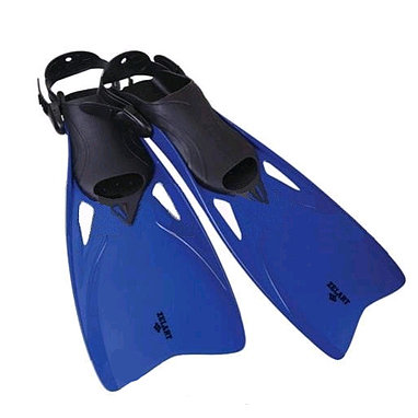 Ласты с открытой пяткой Dorfin (ZLT) синие, размер - 42-45 ZP-438-BL-42-45