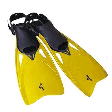 Ласты с открытой пяткой Dorfin (ZLT) желтые, размер - 38-43