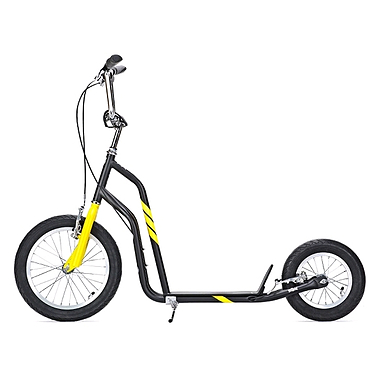 Самокат двухколесный Yedoo City черно-желтый