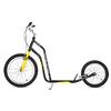 Самокат двухколесный Yedoo Mezeq V-brake черно-желтый - фото 1