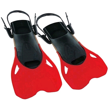 Ласты с открытой пяткой Dorfin PL-480 красные, размер - L-XL(42-45)