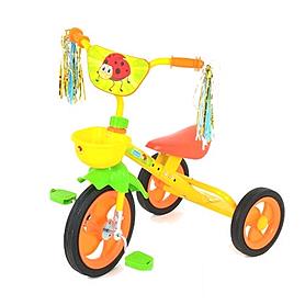 Велосипед детский трехколесный Bambi M1657 желто-оранжевый