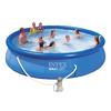Бассейн надувной Intex Easy Set 28162 (457х91 см) с фильтрующим насосом и лестницей - фото 1