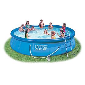 Фото 1 к товару Бассейн надувной Intex Easy Set 28162 (457х91 см) с фильтрующим насосом и аксессуарами