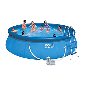 Фото 1 к товару Бассейн надувной Intex Easy Set Pool 54908 (457х107 см) с фильтрующим насосом и аксессуарами
