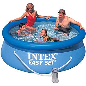 Бассейн надувной Intex 28112 (244х46 см) с фильтрующим насосом