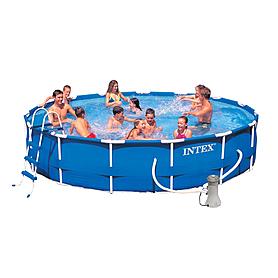 Бассейн каркасный Intex 28232 (457х91 см) с фильтрующим насосом и аксессуарами