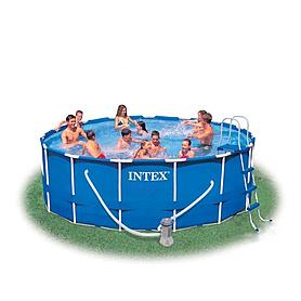 Фото 1 к товару Бассейн каркасный Intex 54946 (457х122 см) с фильтрующим насосом и аксессуарами