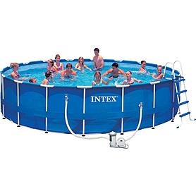 Бассейн каркасный Intex 54952 (549х122 см) с фильтрующим насосом и лестницей