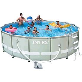 Бассейн каркасный Intex 28322 (488х122 см) с фильтрующим насосом и аксессуарами