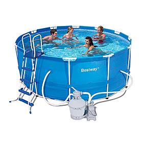 Бассейн каркасный Bestway 56259 (366х122 см) с фильтрующим насосом и аксессуарами