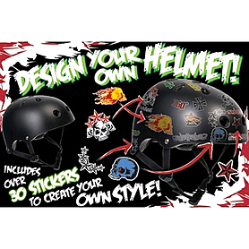 Фото 2 к товару Шлем Stateside Skates Boy's Sticker, размер - S-M