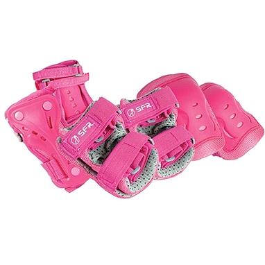 Защита для катания детская (комплект) Stateside Skates SFR розовая, размер - L