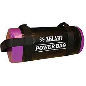 Мешок для кроссфита и фитнеса ZLT Power Bag 10 кг черно-фиолетовый